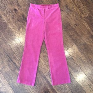 Lilly Pulitzer Pink Corduroy Pants Size 6